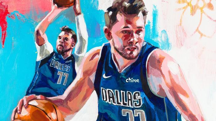Luka Doncic, Dallas Mavericks, graces the cover of NBA 2K22