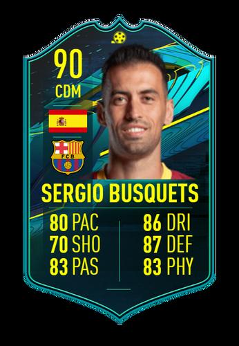 sergio busquets fifa 21 player moments sbc