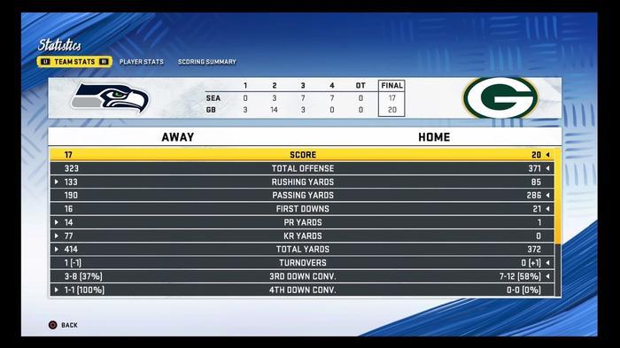 seahawks-@-packers-madden-sim-nfl-playoffs