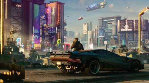 Cyberpunk 2077 v car landscape