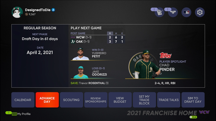 Does MLB The Show 21 have Online Franchise Mode?