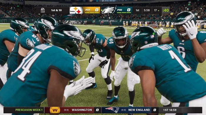Jalen Hurts and the Eagles in Madden 22