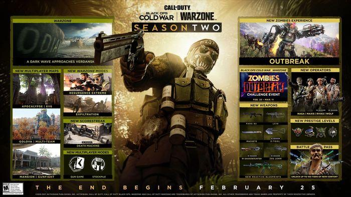 Warzone Outbreak Event Black Ops Cold War Season Two Roadmap