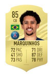 Marquinhos fifa 21 ratings reveal 1