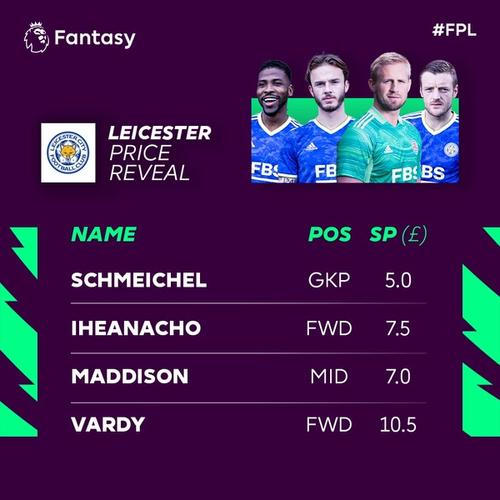 leicester fpl price reveal