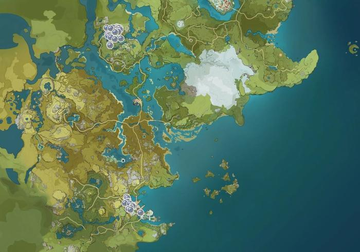 Genshin Impact Glaze Lily Map Locations