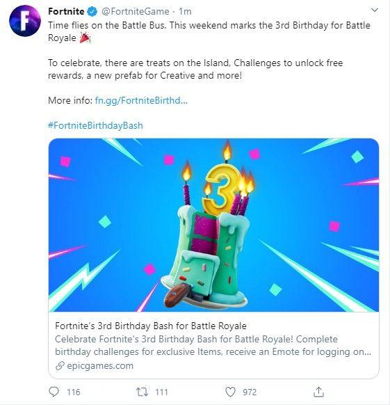 Birthday announcement