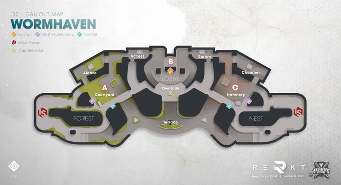 Destiny 2 Trials of Osiris Wormhaven Callout Map