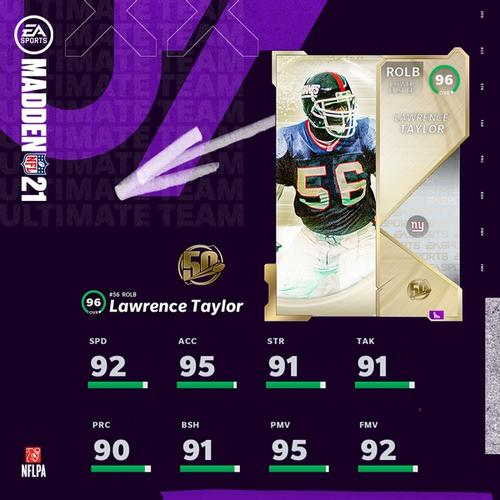 Madden 21 Ultimate Team MUT 21 The 50 Lawrence Taylor Pack