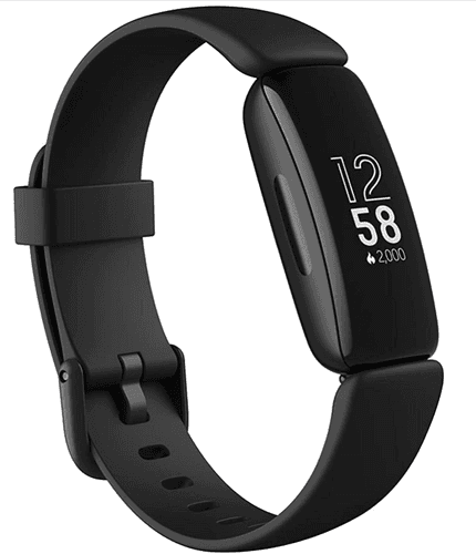 Best Fitbit Inspire 2 product image of a black, band-shaped fitness tracker
