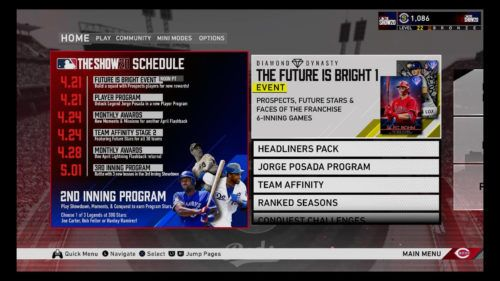 MLB The Show 20 Diamond Dynasty release schedule