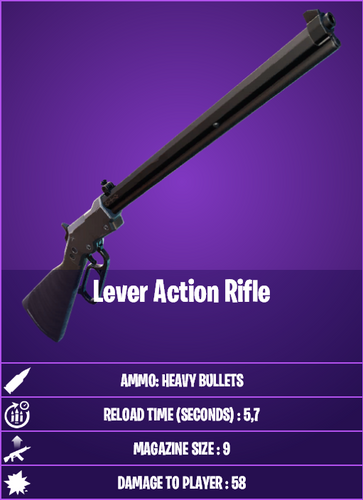 NEW: The Lever Action Rifle is a new addition to the game in the 15.10 update.