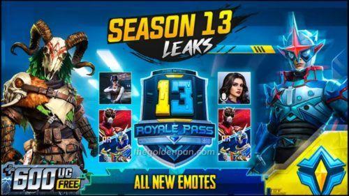 The Golden Pan season 13 pubg mobile leaks new skins royale pass