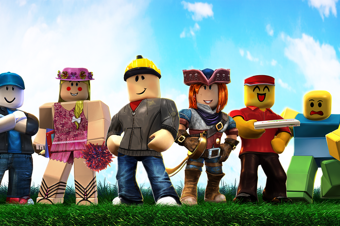 Roblox Voice Chat character Group Key Art