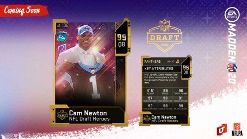 madden 20 nfl draft cam newton master