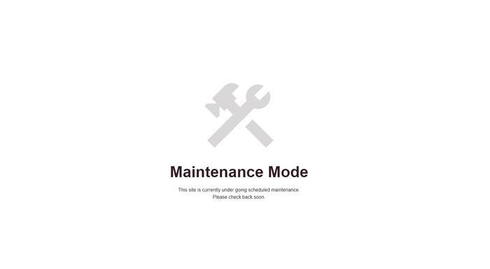 IKSample Maintenance Mode
