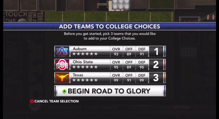 NCAA 22 EA Sports College Football Game Modes Road to Glory Dynasty
