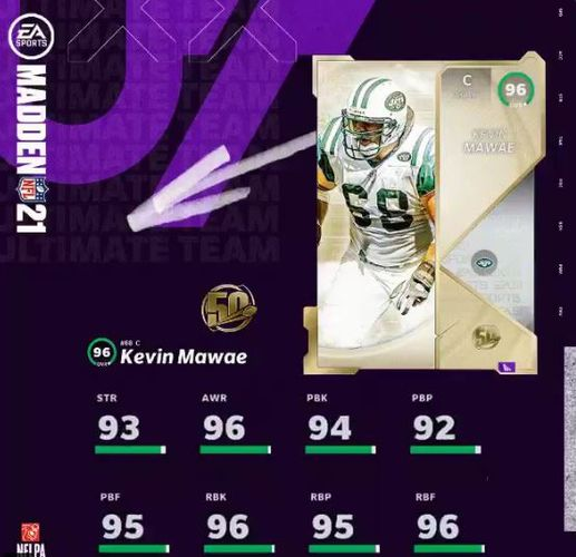 MUT 21 The 50 Madden Ultimate Team Kevin Mawae