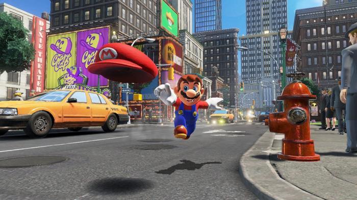 Super Mario Odyssey Nintendo Switch New Donk City Cappy key art