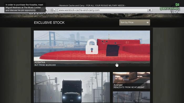 GTA Online Submarine