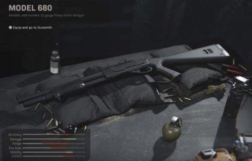 The Model 680 shotgun in Call of Duty Modern Warfare