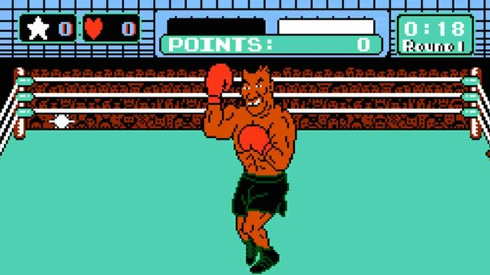 FIGHT TIME: Mike Tyson first appeared in-game in the 80s!