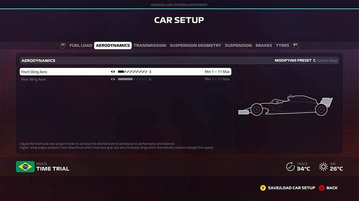 F1 2019 Brazilian Grand Prix setup aerodynamics