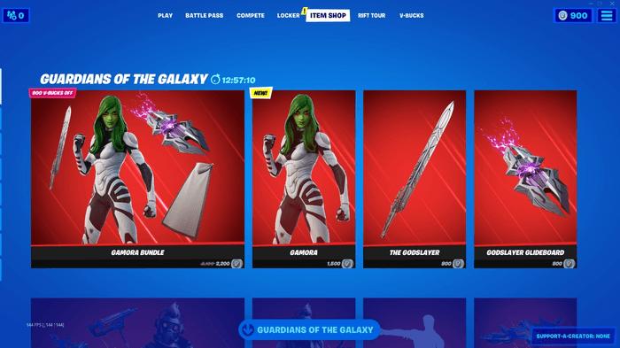 Gamora Fortnite Bundle Items Price