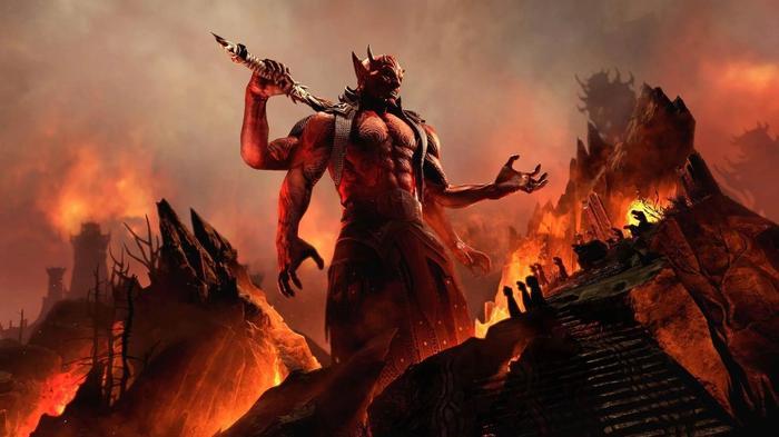 The Elder Scrolls Online Gates of Oblivion Mehrunes Dagon