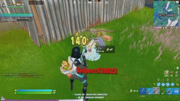 fortnite eliminate opponents common weapons xp xtravaganza week 2