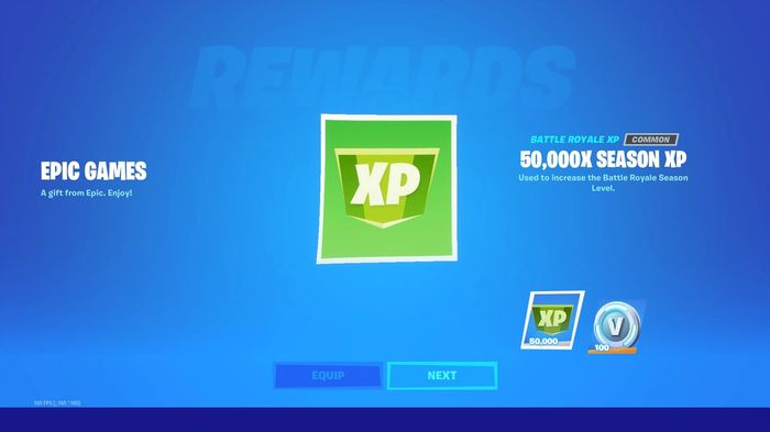 FREE: Players were given 50,000 free XP for logging in after the 15.10 update.