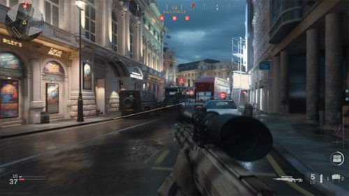 A spawn point in Picadilly in Call of Duty Modern Warfare