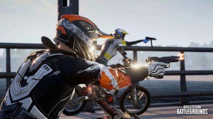 pubg dirt bike shooting