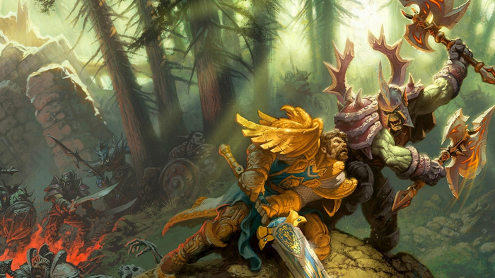 WoW Classic Human and Orc Warriors