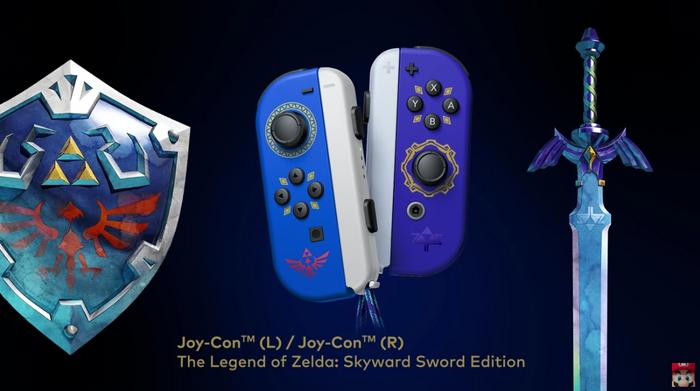 Skyward Sword HD Zelda Themed Joy Cons Nintendo Direct