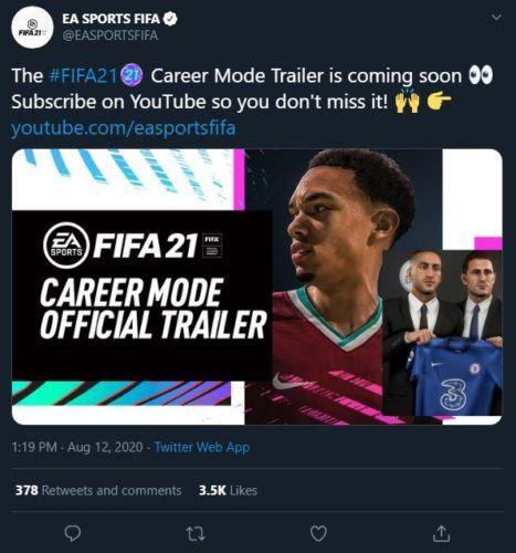 FIFA 21 Career Mode Trailer announcement