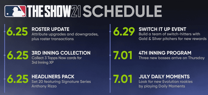MLB The Show 21 Release Date Schedule