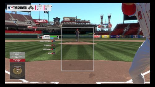 Guessing the pitch in MLB The Show 20