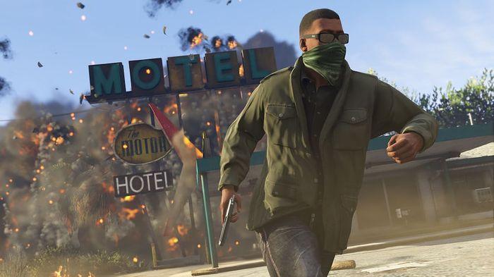 GTA 5 Enhanced Edition Franklin Motel Explosion