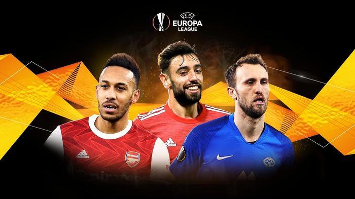uefa europa league aubameyang bruno fernandes
