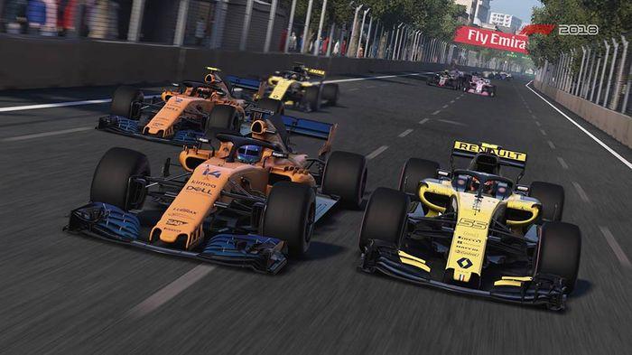 F1 2018 screenshot ERS Baku Azerbaijan Alonso Sainz