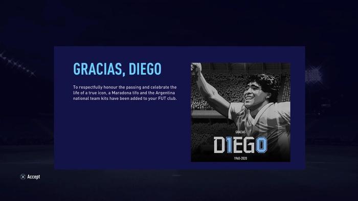FIFA 21 Diego Maradona Tribute