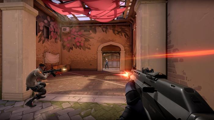 Valorant Gameplay Gunfight Doorway
