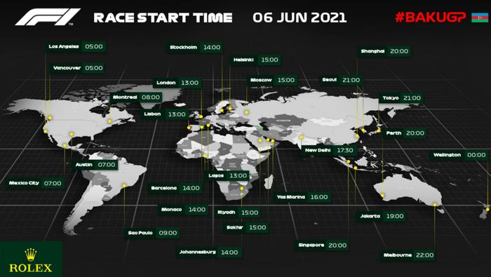 f1 2021 azerbaijan grand prix start time