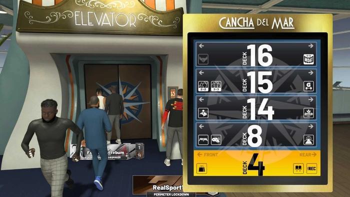 The elevators in NBA 2K22
