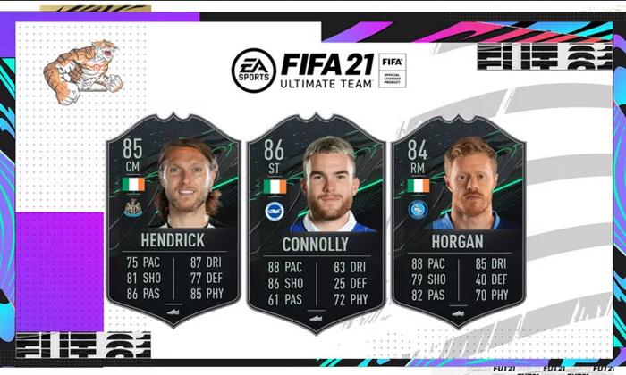 FIFA 21 Ultimate Team FUT 21 Cards Image Hendrick Connolly Horgan
