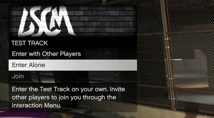 GTA Online Test Track Access