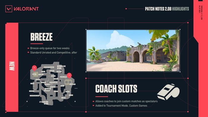 Valorant Act 3 Breeze Map Coaching Slots Patch Notes