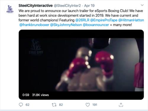 esports boxing club tweet