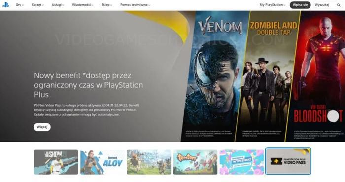PS5 News Today PS Plus Movie Pass Polish Site Leak